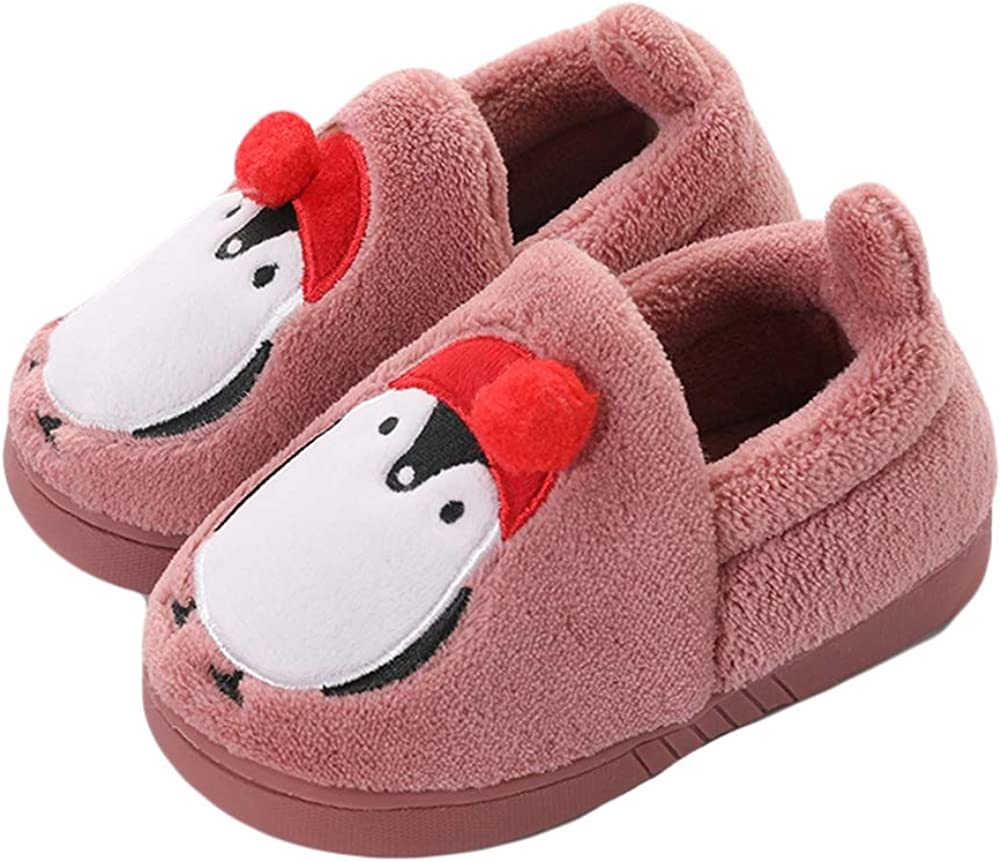 Liveinu Kids//Toddlers Cute Penguin Slippers mit Pompon Winter Warm House Slippers Booties