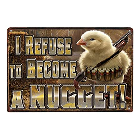 Doitsa 1x Retro Cartel de Chapa Placa Metal Tin Sign Pollo ...