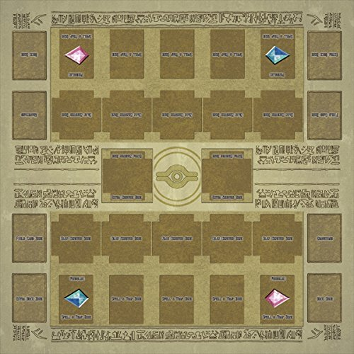d Rubber Play Mat Egypt Mural Style Type (for Competition) 60 × 60 cm Size 2mm Link Summon Correspondence Extra Monster Zone ()