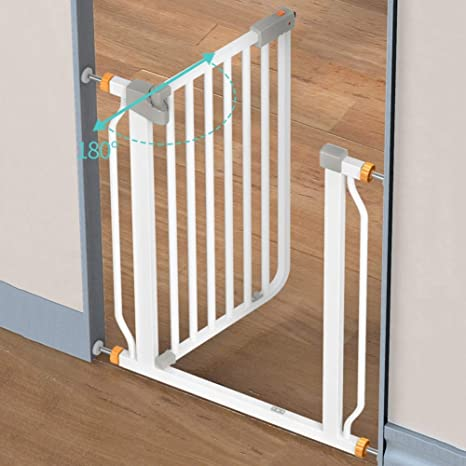 H.yina Baby Gates Extra Tall 103cm Baby Gates para escaleras Escalera, Protector de Pared Puerta metálica para Mascotas con Puerta para Perro Blanca, 76-160cm de Ancho (Tamaño: 97-104cm): Amazon.es: Hogar