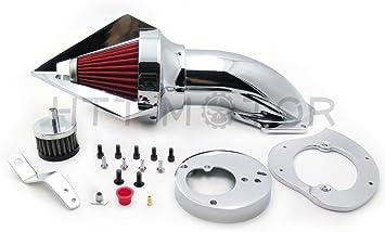 Spike Air Cleaner Intake Filter Kit For Honda Vtx1300 Vtx 1300 1986-2012 Chrome