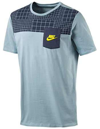pick up b1e99 c69a5 Nike Herren Trainings Freizeit T-Shirt NSW DRPTL AV15 TEE blau, GrößeS