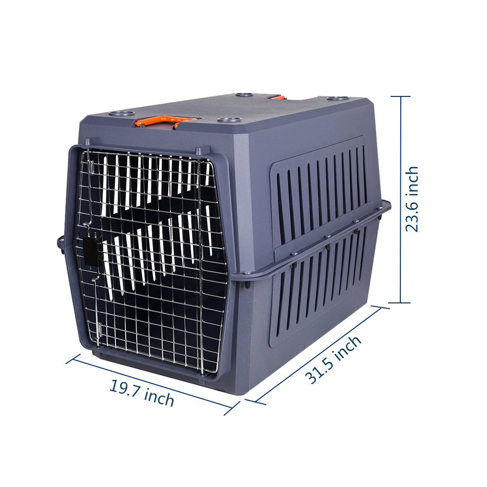 Karmas Product 4 Size Plastic Cat Dog Carrier Cage With Chrome