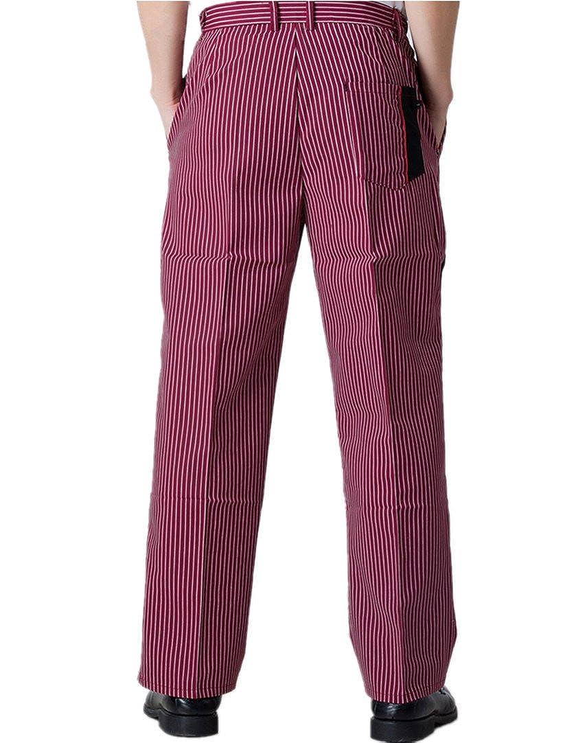 WAIWAIZUI Pantaloni da Chef Rosso