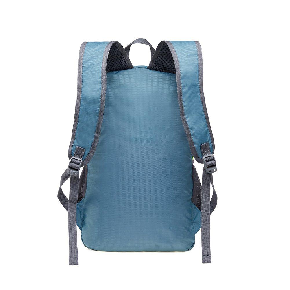 KAUKKO Laptop Outdoor Backpack, Travel Hiking& Camping Rucksack Pack, Casual Large College School Daypack, Shoulder Book Bags Back Fits 15'' Laptop & Tablets (01GREEN) by KAUKKO (Image #9)