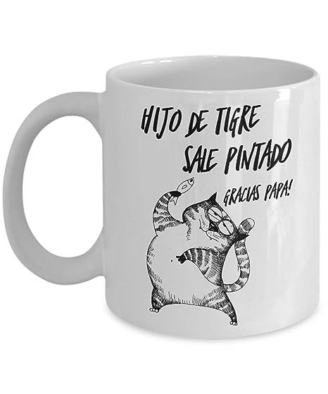 Taza de Cafe Gatos Chistosas ; Regalo para el dia del Padre ; mi Hijo mi