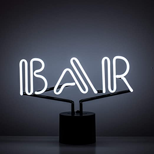 Amazon.com: Señal de neón Amped & Co Bar, luz de escritorio ...
