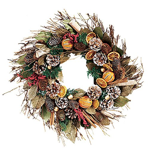 Holiday Citrus and Cinnamon Scented Wreath