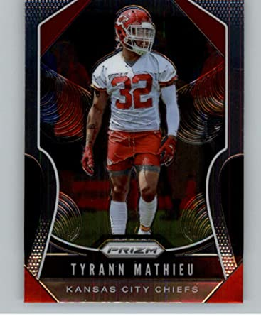 2019 Prizm Football #214 Tyrann Mathieu Kansas City Chiefs Official Panini NFL Trading Card