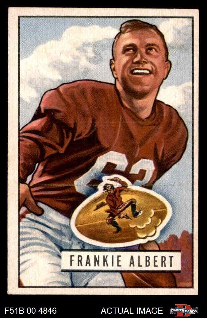 1951 Bowman # 103 Frankie Albert San Francisco 49ers (Football Card) Dean's Cards 6 - EX/MT 49ers Stanford 61JfiBwGjgLSL1036_