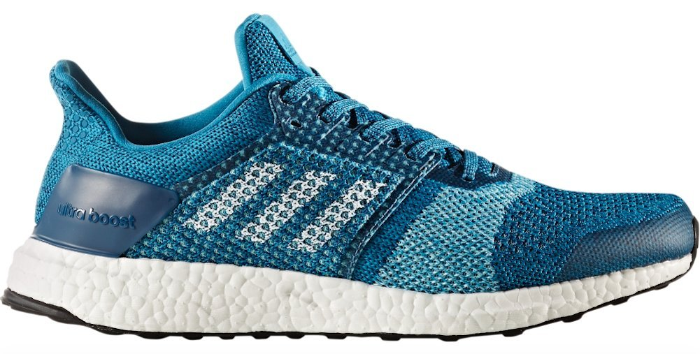 adidas Ultra Boost ST Running Shoe - Men's Mystery Petrol/Footwear White/Blue Night, 11.5