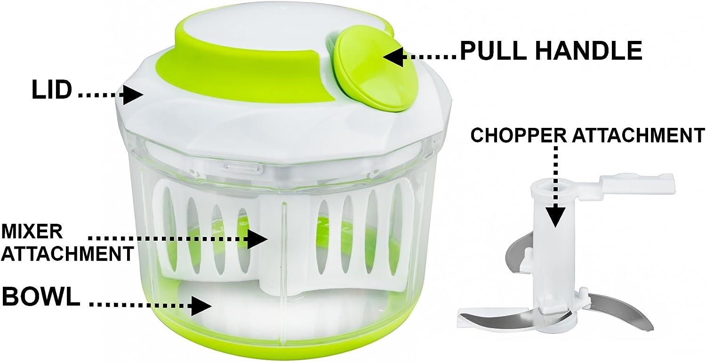 Brieftons Picadora manual de alimentos, potente, ideal para picar ...
