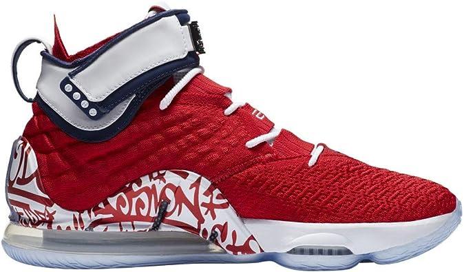 Amazon.com | Nike Lebron 17 Graffiti Remix RED 2020 CT6047 ...