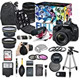Canon EOS 80D DSLR Camera Video Creator Kit with Canon EF-S 18-135mm f/3.5-5.6 IS USM Lens + Wide Angle Lens + 2x Telephoto Lens + Flash + SanDisk 32GB SD Memory Card + Accessory Bundle