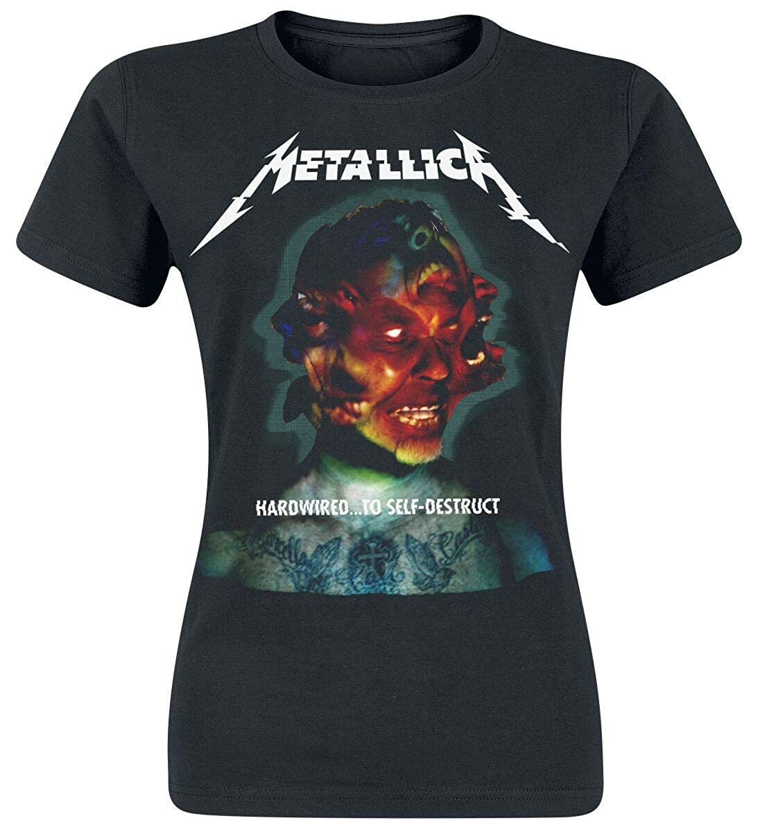 Metallica Hardwired.. Self-Destruct Camiseta Mujer Negro XXL
