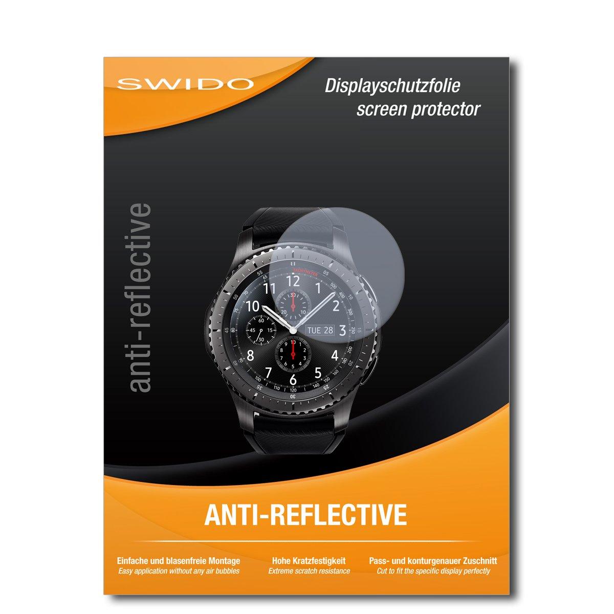 4 x SWIDO® Pellicola Protettiva Samsung Gear S3 frontier LTE Screen Protector Pellicola Protettiva Film AntiReflex antiriflesso Screen Protector Specialist
