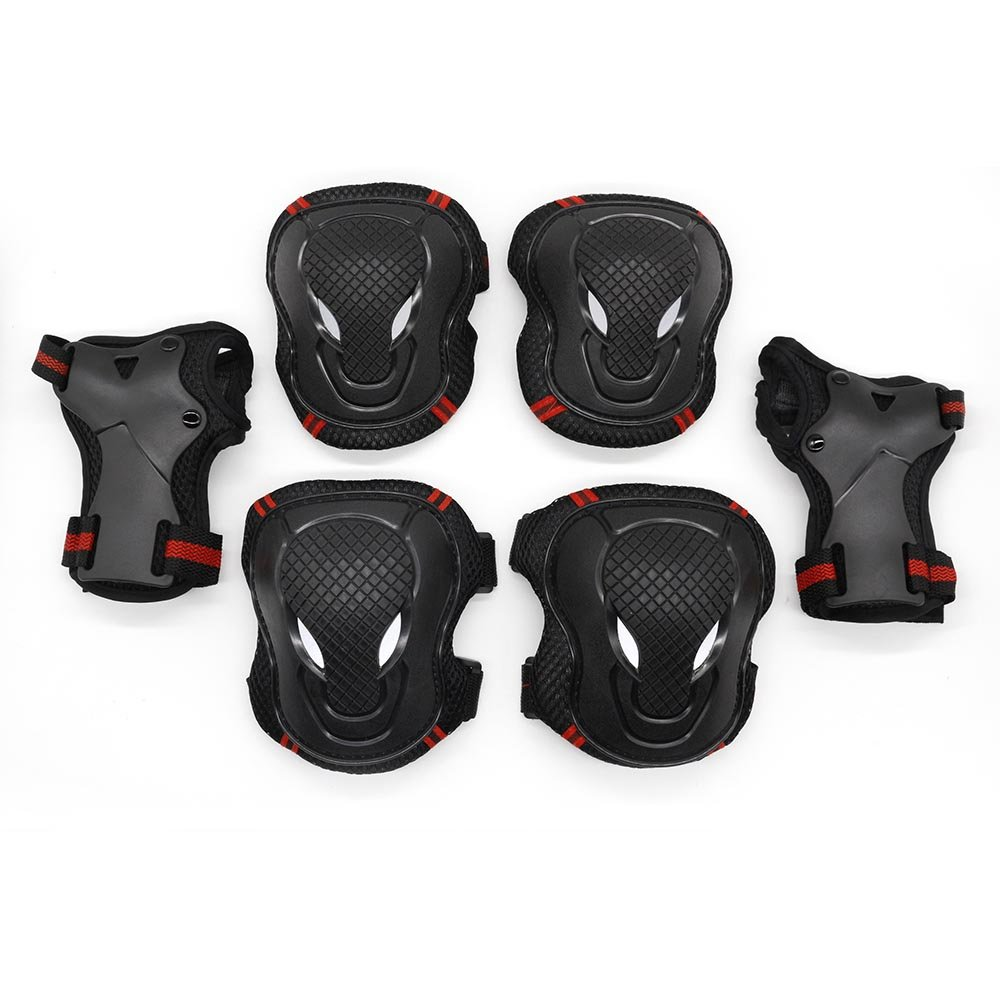 iSoxid(TM) 6PCS Elbow Knee Brace Pads Kids Adult Cycling Roller Skating Skateboard Elbow Knee Hands Safety Protection Guard Pads Set