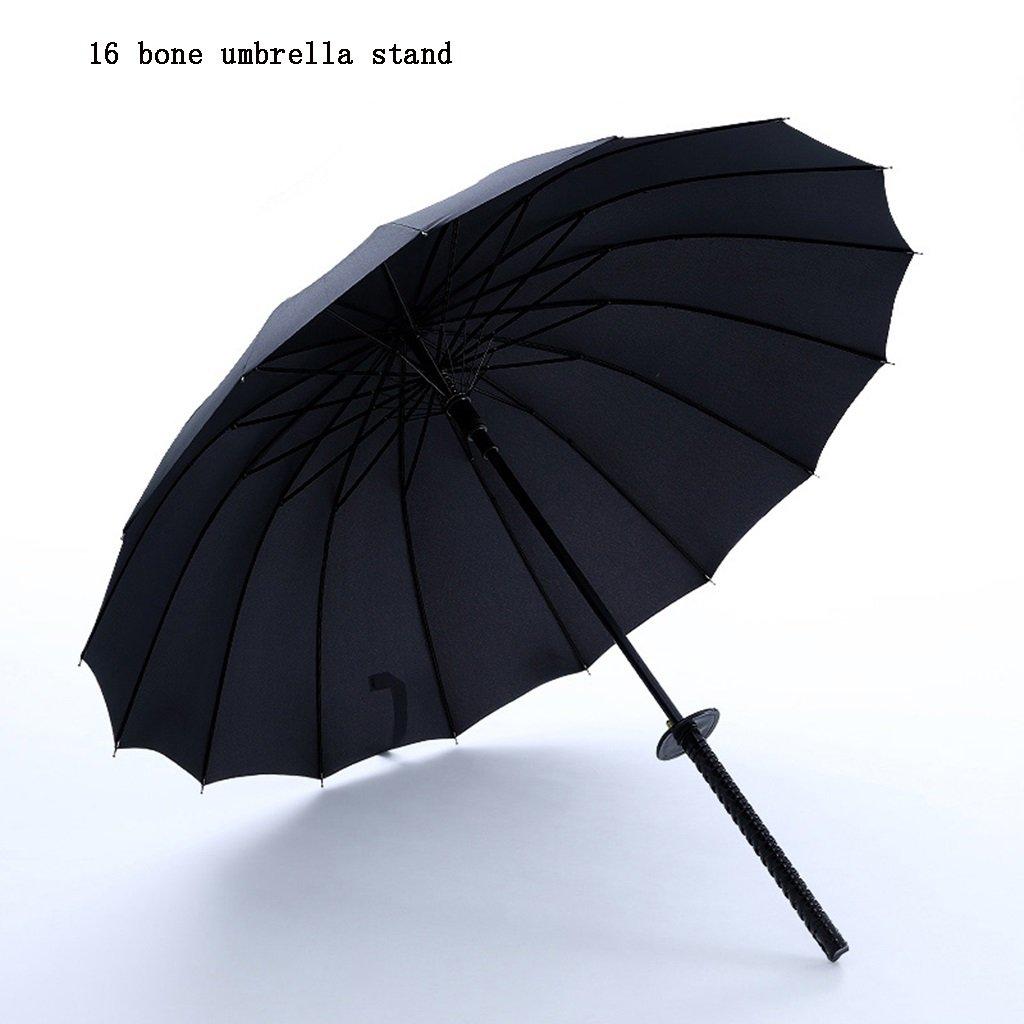 taille : 16 bone umbrella stand Parapluie katana Augmenter 16 os renforc/é imperm/éable /à leau coupe-vent cadre poign/ée droite parapluie