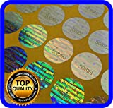324 Hologram labels with serial numbers, warranty stickers seals round .59 inch