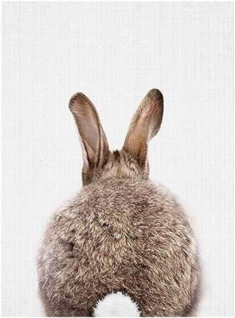 2er-Set Moderne Kaninchen Wandbilder Kunstdruck Dekor für Wohnzimmer Büro