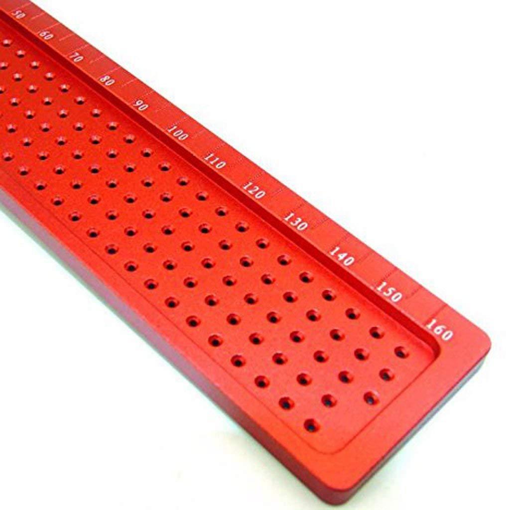 REFURBISHHOUSE Praezisions-Holzbearbeitungs-T-Quadrat-Messwerkzeug-Schreiber-Aluminiumlegierung