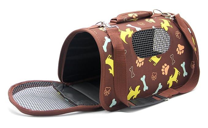 BPS Transportín Portador Bolsa Bolso de Tela para Mascotas Perros Gatos Animales Transportadoras 3 Tamaños S/M/L Diferente Colores para Elegir (S, ...