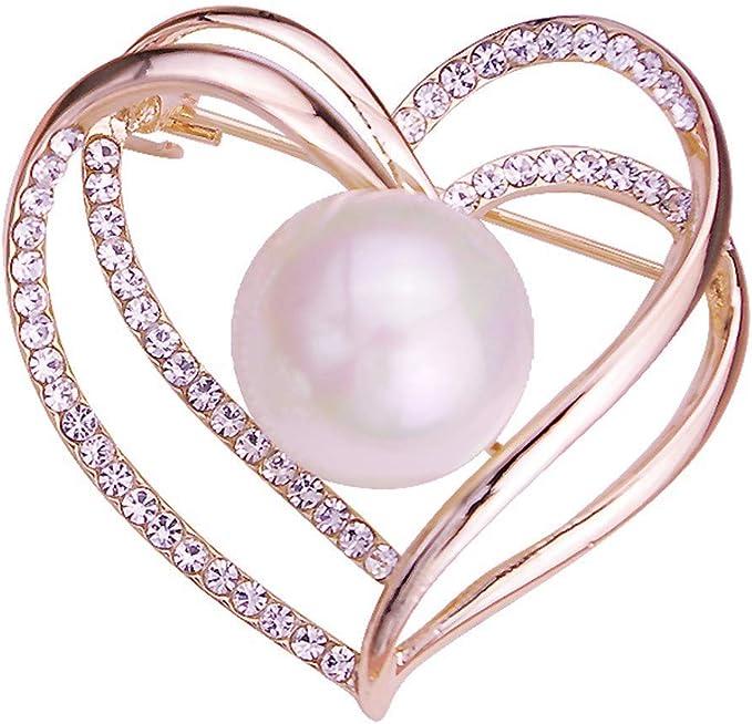 Hardwordland Bufanda Elegante Perla en Forma de corazón Moda ...