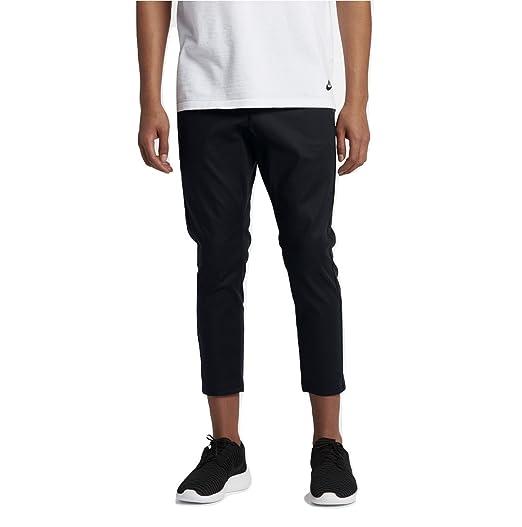 918841764ba58 Amazon.com: Nike Sportswear Bonded Men's Woven Pants (Black, 34 ...