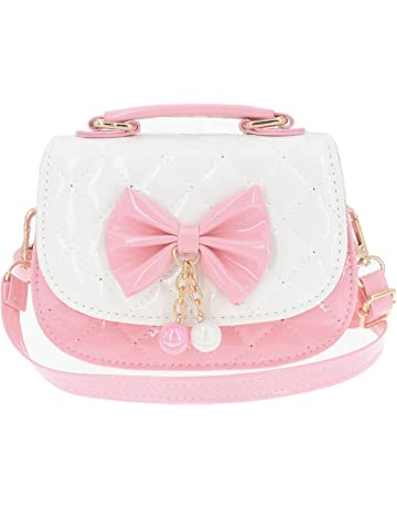 72167e1e4f65 JUNOAI Little Girls Crossbody Purses for Kids - Toddler Mini Cute Princess  Handbags Shoulder Messenger Bag