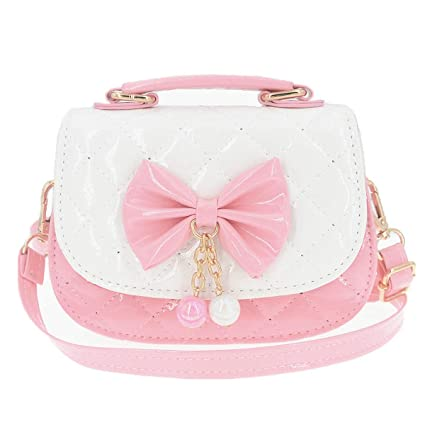 Image Unavailable. Image not available for. Color  JUNOAI Little Girls  Crossbody Purses for Kids - Toddler Mini Cute Princess Handbags Shoulder  Messenger ... ff92a78c114e0