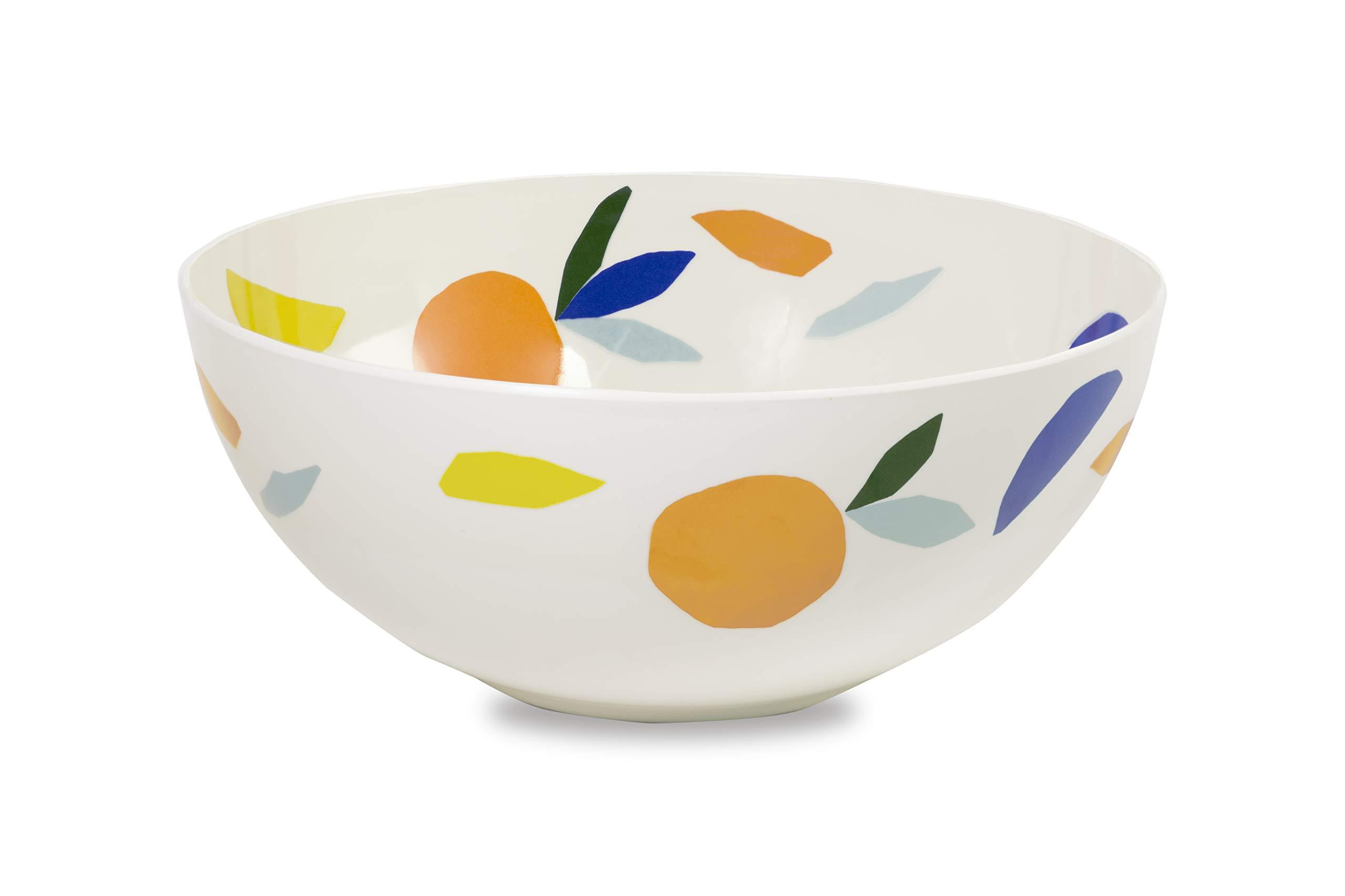 Kate Spade New York Women's Melamine Serving Bowl, Dishwasher Safe, Citrus Twist