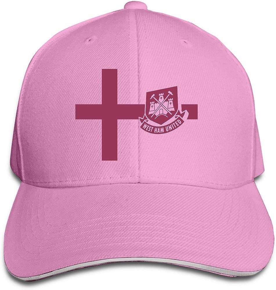 West Ham United Adjustable Sandwich Peak Baseball Cap Hat