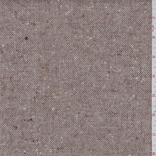 Taupe Wool Tweed Suiting, Fabric By the (Wholesale Wool Fabric)