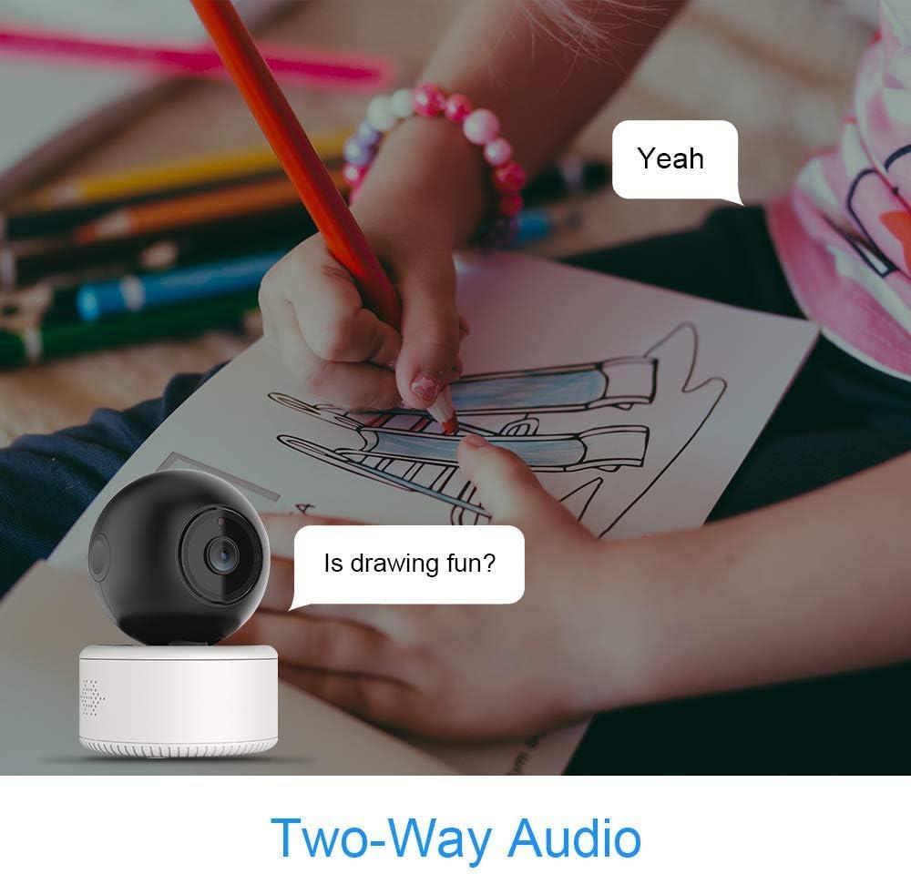 HD 1080P-Aufl/ösung mit 2,4 GHz WiFi Infrarot-LED Zwei-Wege-Audio Nachtsicht Rotierende /Überwachungskamera PTZ intelligente Bewegungserkennung integrierte WiFi-Kamera