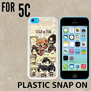 Attack on Titan Chibi all character Custom made Case/Cover/skin FOR iPhone 5C -White- Plastic Snap On Case
