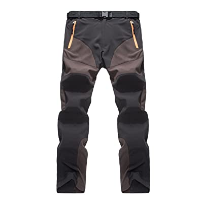 XARAZA Men's Quick Dry Hiking Pants Breathable Windproof Outdoor Sports Trekking Trousers