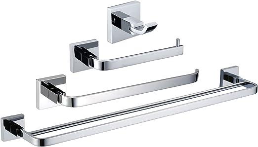 4 Piece Bathroom Accessory Set With A Chrome Finish