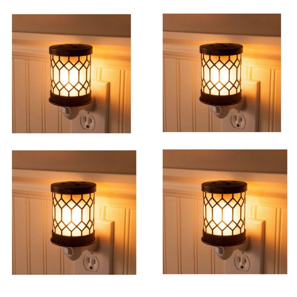 Wax Melt Warmer Electric Tart Warmer Plug In Pluggable Home Fragrance Diffuser Bronze Lantern Pack of 4