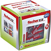 Fischer Duo Power universele pluggen, maat 12 x 60 mm, verpakking van 25 stuks,