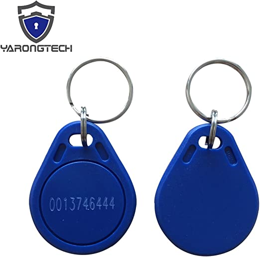 Paquete de 2 unidades YARONGTECH New 125KHz EM4100 Read Only negro de piel de llave RFID de d/ía para puerta b/ásicos