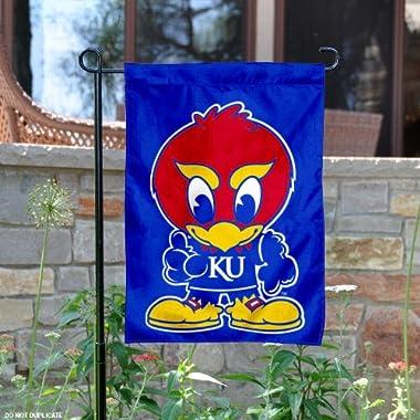 Kansas Baby Jayhawk Garden Flag and Yard Banner