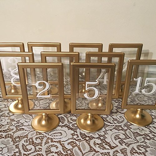 Gold Wedding Table Numbers, Wedding Table Markers, Number Cards For Wedding, Gold Wedding Decor