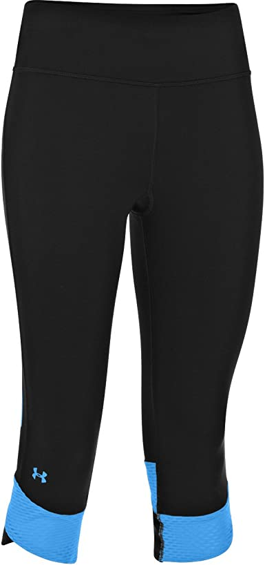Under Armour Womens Fly-by Compression Capri Under Armour Apparel 1243045