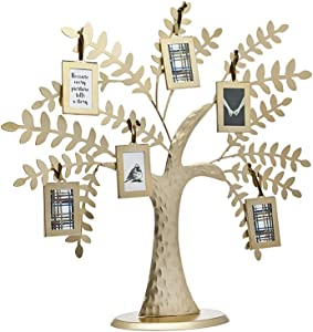 Philip Whitney Metal Family Tree Picture Frames with 6 Hanging Photo Frames and Magnets