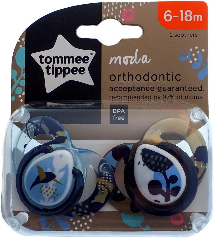 Tommee Tippee Moda Soother Twin Pack 6-18m Bird