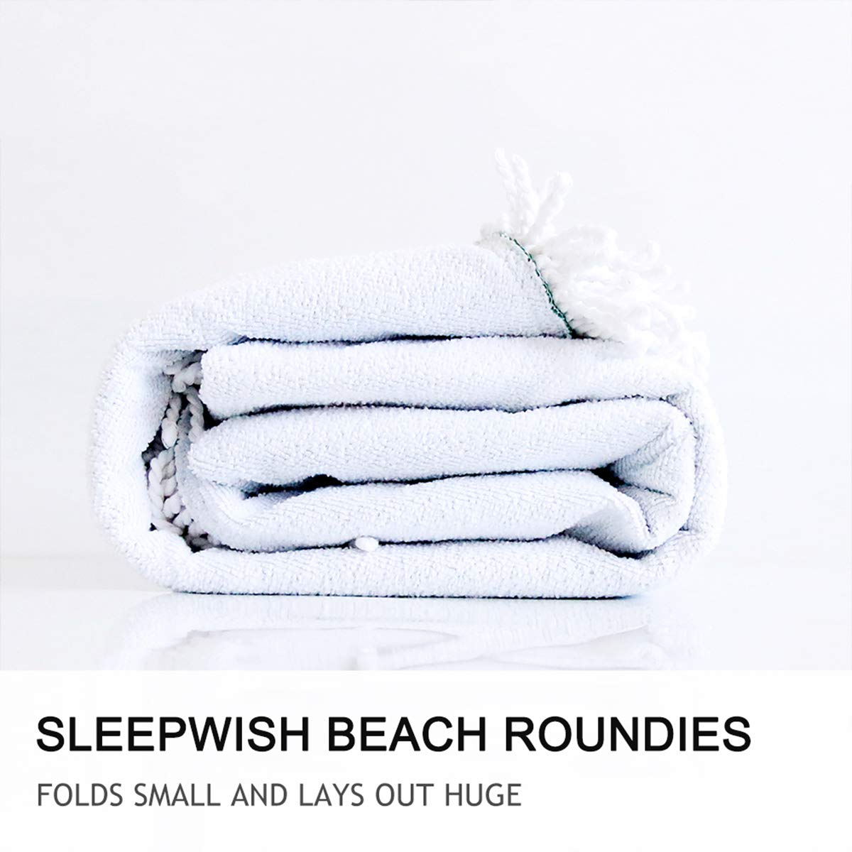 Sleepwish Floral Printed Round Beach Towel Ultra Soft Super Water Absorbent Multi-Purpose Classic Beach Throw 60 inch Colored Light Pattern