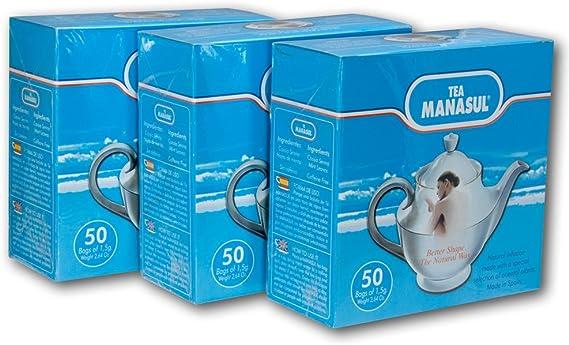 Bio3 di Manasul Tea 50 3-Pack- Te Manasul (150 Totale Bustine di ...