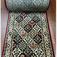 181639 - Rug Depot Bekmez Passion 3069 Multi Traditional Hall and Stair Runner - 26 Wide Hallway Rug Runner - Custom Sizing - Multi-Colored Background - Choose Your Length - 26 x 15 feet