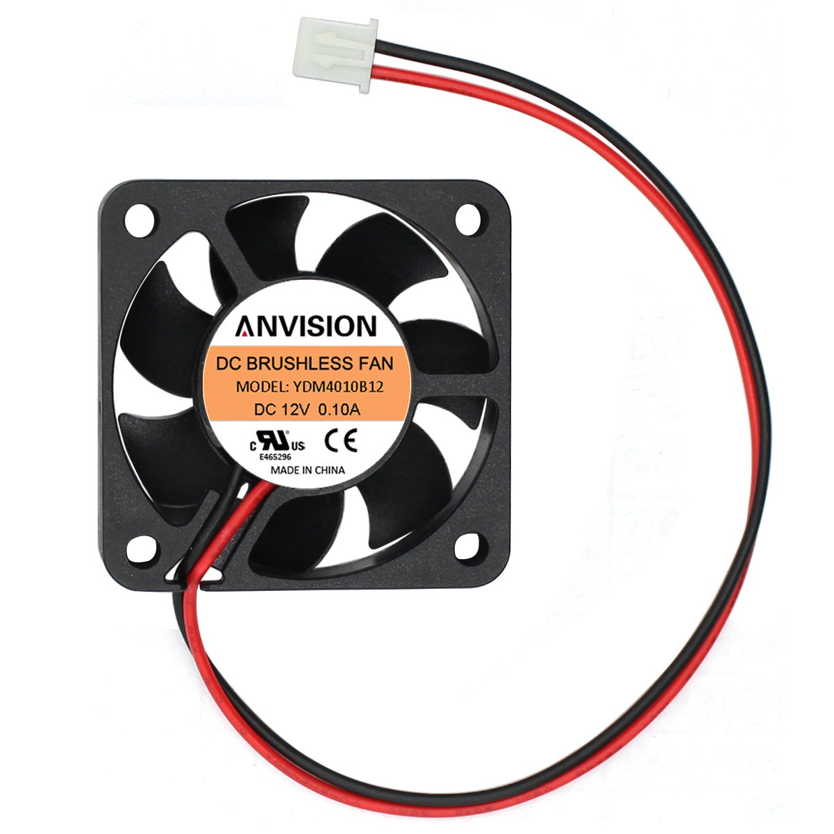 ANVISION 40mm x 10mm DC 12V Brushless Cooling Fan, Dual Ball Bearing, YDM4010B12