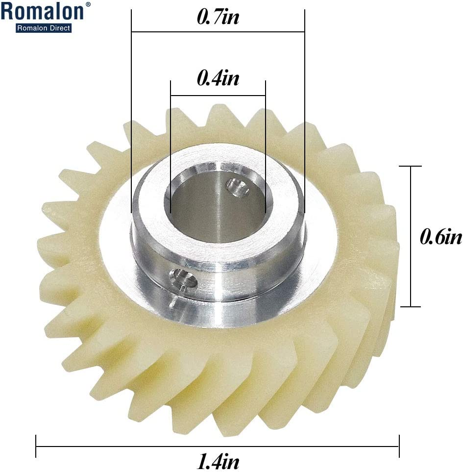 Romalon W10112253 Mixer Worm Gear Replacement Part-Exact passen für Whirlpool&Kitchenaid Mixers-Replaces 4161531 4162897 4169830 Wpw10112253Vp